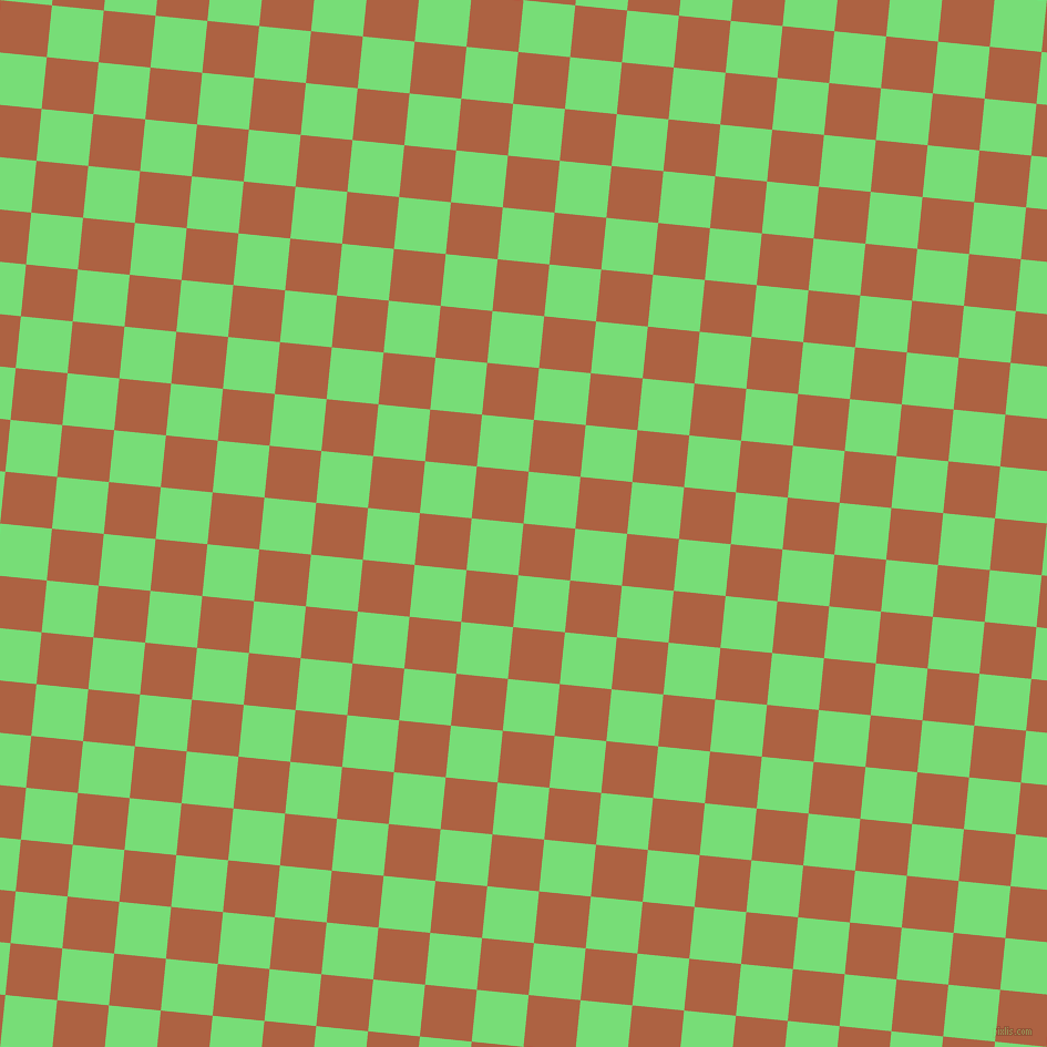 84/174 degree angle diagonal checkered chequered squares checker pattern checkers background, 47 pixel square size, , Tuscany and Pastel Green checkers chequered checkered squares seamless tileable