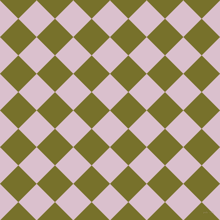 45/135 degree angle diagonal checkered chequered squares checker pattern checkers background, 89 pixel square size, Twilight and Crete checkers chequered checkered squares seamless tileable