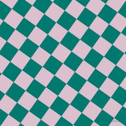 54/144 degree angle diagonal checkered chequered squares checker pattern checkers background, 47 pixel square size, , Twilight and Pine Green checkers chequered checkered squares seamless tileable