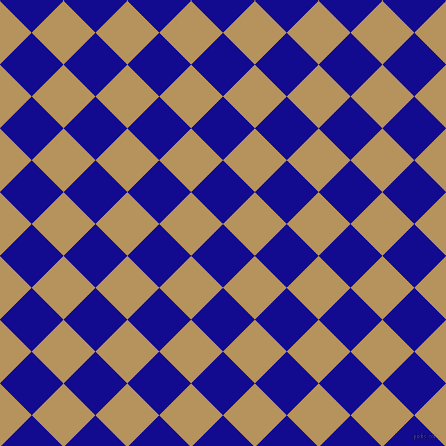 45/135 degree angle diagonal checkered chequered squares checker pattern checkers background, 65 pixel square size, , Ultramarine and Barley Corn checkers chequered checkered squares seamless tileable