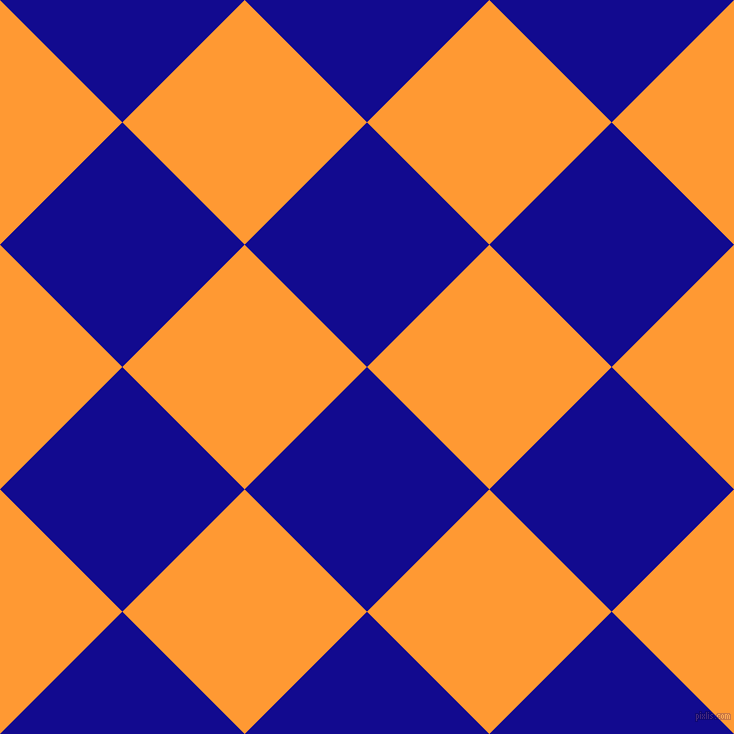 45/135 degree angle diagonal checkered chequered squares checker pattern checkers background, 173 pixel squares size, , Ultramarine and Neon Carrot checkers chequered checkered squares seamless tileable