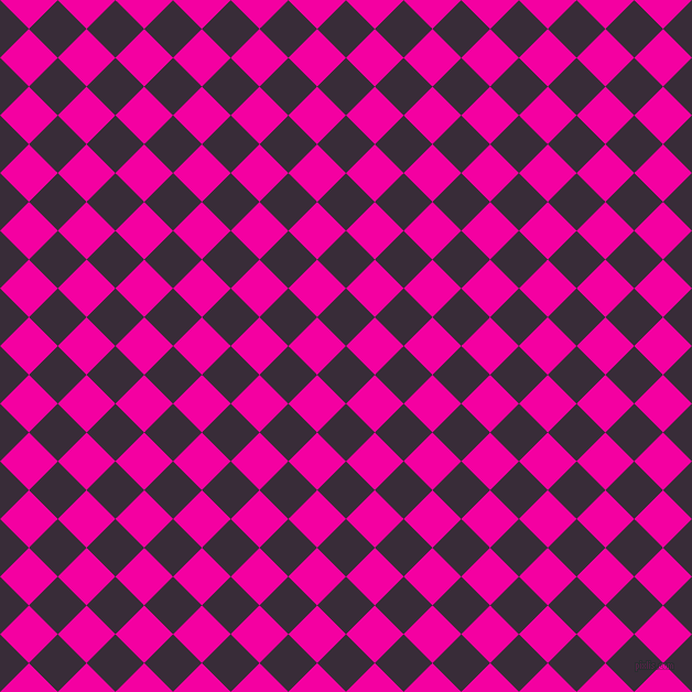 45/135 degree angle diagonal checkered chequered squares checker pattern checkers background, 37 pixel squares size, , Valentino and Hollywood Cerise checkers chequered checkered squares seamless tileable