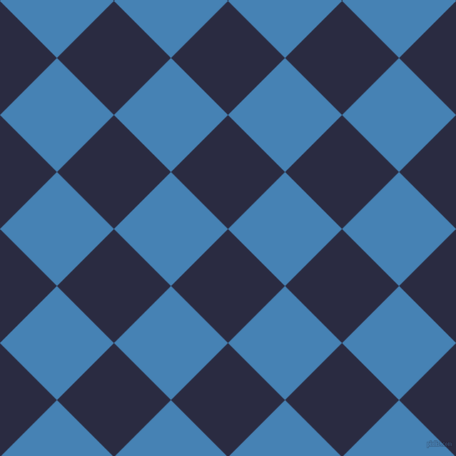 45/135 degree angle diagonal checkered chequered squares checker pattern checkers background, 113 pixel squares size, , Valhalla and Steel Blue checkers chequered checkered squares seamless tileable
