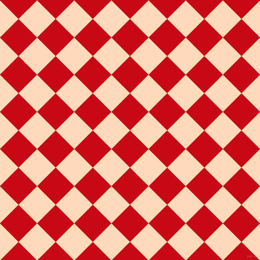 45/135 degree angle diagonal checkered chequered squares checker pattern checkers background, 85 pixel squares size, , Venetian Red and Peach Puff checkers chequered checkered squares seamless tileable