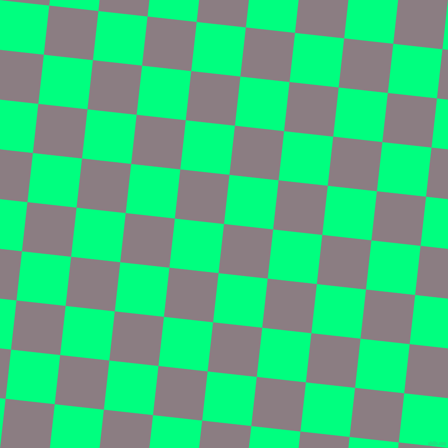 84/174 degree angle diagonal checkered chequered squares checker pattern checkers background, 100 pixel squares size, , Venus and Spring Green checkers chequered checkered squares seamless tileable