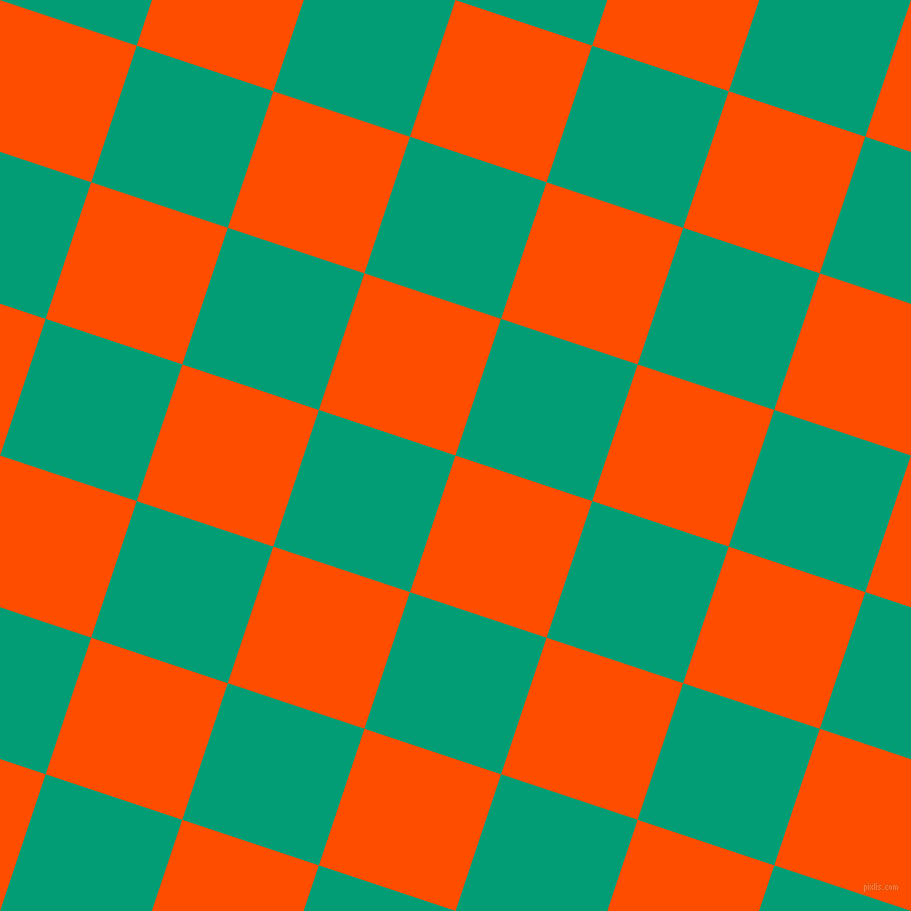 72/162 degree angle diagonal checkered chequered squares checker pattern checkers background, 144 pixel square size, , Vermilion and Free Speech Aquamarine checkers chequered checkered squares seamless tileable