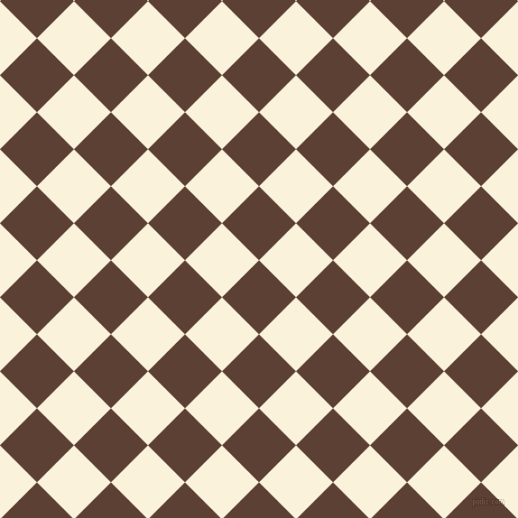 45/135 degree angle diagonal checkered chequered squares checker pattern checkers background, 58 pixel squares size, , Very Dark Brown and Early Dawn checkers chequered checkered squares seamless tileable
