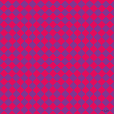 45/135 degree angle diagonal checkered chequered squares checker pattern checkers background, 24 pixel squares size, , Vivid Violet and Razzmatazz checkers chequered checkered squares seamless tileable