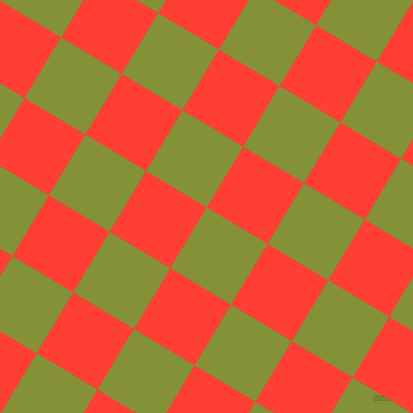 59/149 degree angle diagonal checkered chequered squares checker pattern checkers background, 100 pixel squares size, , Wasabi and Red Orange checkers chequered checkered squares seamless tileable