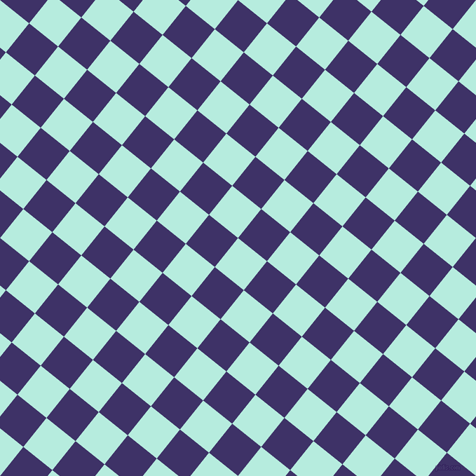 51/141 degree angle diagonal checkered chequered squares checker pattern checkers background, 53 pixel squares size, , Water Leaf and Minsk checkers chequered checkered squares seamless tileable