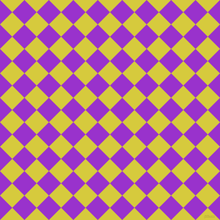45/135 degree angle diagonal checkered chequered squares checker pattern checkers background, 59 pixel square size, , Wattle and Dark Orchid checkers chequered checkered squares seamless tileable