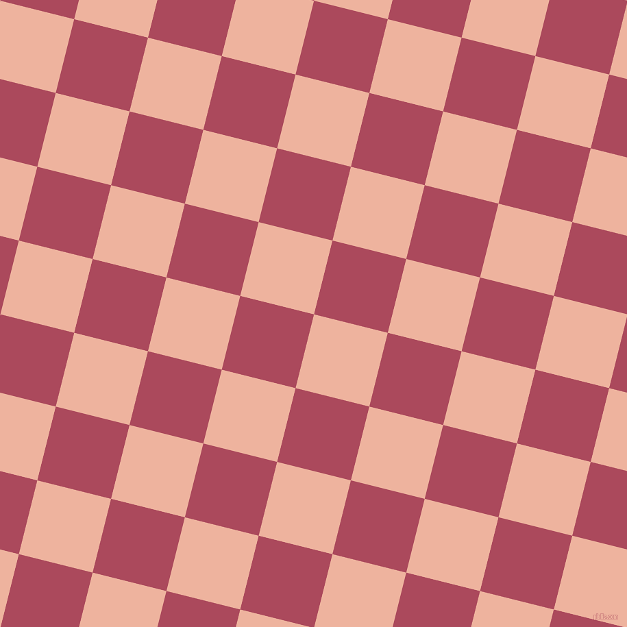 76/166 degree angle diagonal checkered chequered squares checker pattern checkers background, 111 pixel square size, , Wax Flower and Hippie Pink checkers chequered checkered squares seamless tileable