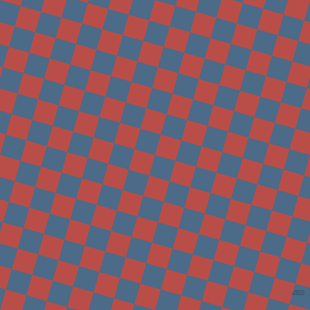 74/164 degree angle diagonal checkered chequered squares checker pattern checkers background, 30 pixel squares size, , Wedgewood and Chestnut checkers chequered checkered squares seamless tileable