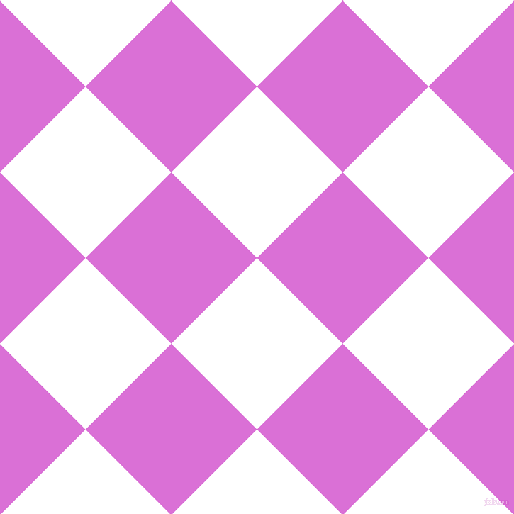 45/135 degree angle diagonal checkered chequered squares checker pattern checkers background, 171 pixel square size, , White and Orchid checkers chequered checkered squares seamless tileable