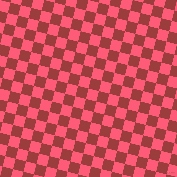 76/166 degree angle diagonal checkered chequered squares checker pattern checkers background, 42 pixel squares size, , Wild Watermelon and Mexican Red checkers chequered checkered squares seamless tileable