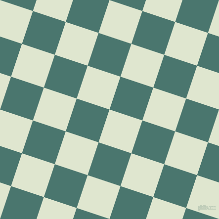 72/162 degree angle diagonal checkered chequered squares checker pattern checkers background, 70 pixel square size, , Willow Brook and Dark Green Copper checkers chequered checkered squares seamless tileable