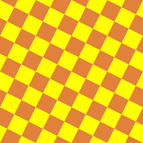 63/153 degree angle diagonal checkered chequered squares checker pattern checkers background, 56 pixel square size, , Yellow and Tree Poppy checkers chequered checkered squares seamless tileable