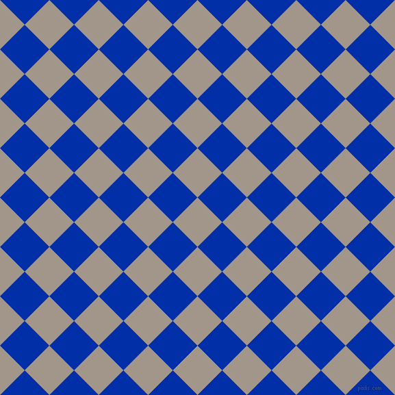 45/135 degree angle diagonal checkered chequered squares checker pattern checkers background, 51 pixel squares size, , Zorba and International Klein Blue checkers chequered checkered squares seamless tileable
