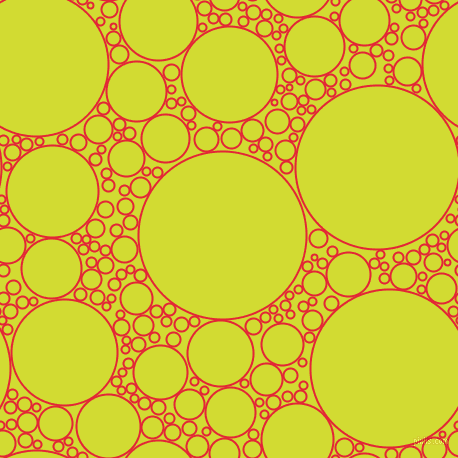 bubbles, circles, sponge, big, medium, small, 2 pixel line width, Alizarin and Bitter Lemon circles bubbles sponge soap seamless tileable