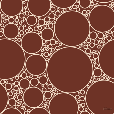 bubbles, circles, sponge, big, medium, small, 3 pixel line width, Almond and Pueblo circles bubbles sponge soap seamless tileable