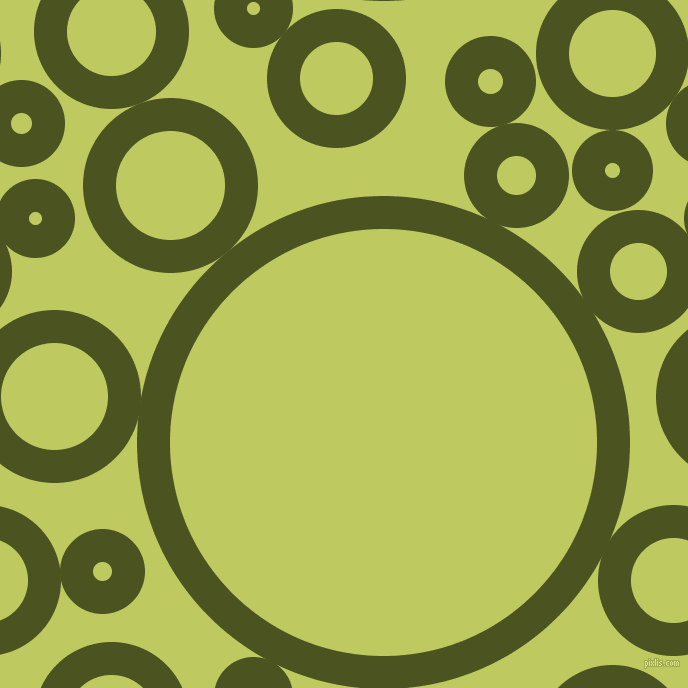 bubbles, circles, sponge, big, medium, small, 33 pixel line width, Army green and Wild Willow circles bubbles sponge soap seamless tileable