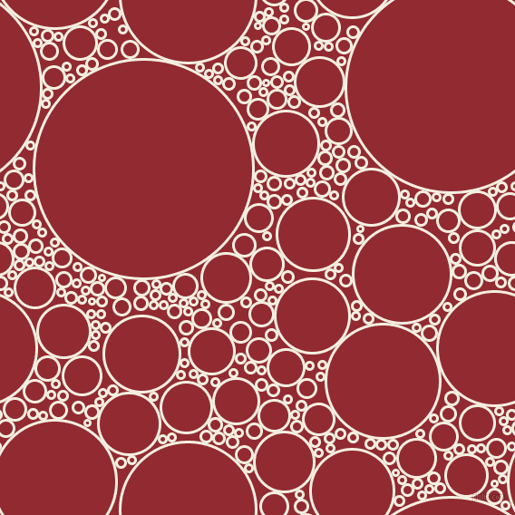 bubbles, circles, sponge, big, medium, small, 3 pixel line width, Bianca and Bright Red circles bubbles sponge soap seamless tileable