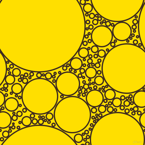 bubbles, circles, sponge, big, medium, small, 5 pixel line width, Bistre and Golden Yellow circles bubbles sponge soap seamless tileable