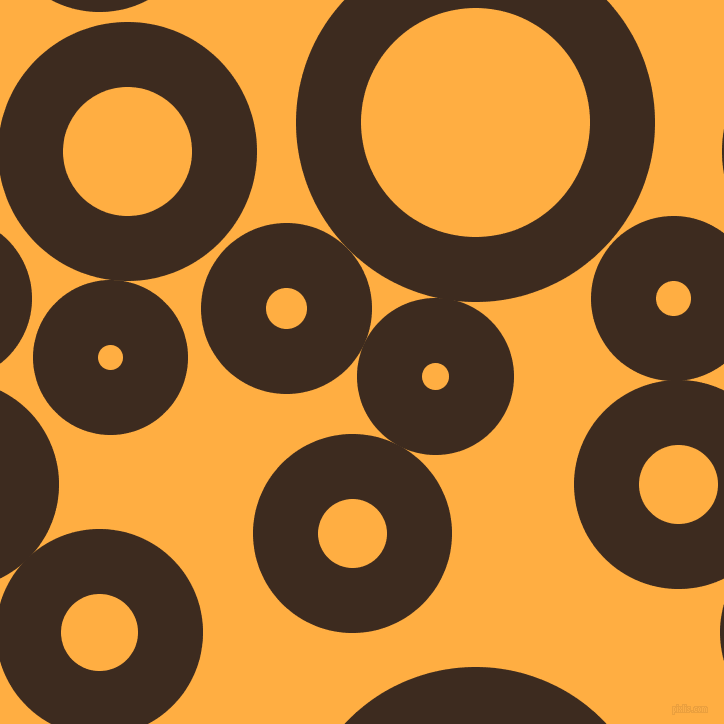 bubbles, circles, sponge, big, medium, small, 65 pixel line width, Bistre and Yellow Orange circles bubbles sponge soap seamless tileable