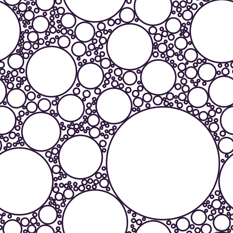 bubbles, circles, sponge, big, medium, small, 5 pixel line width, Blackcurrant and White circles bubbles sponge soap seamless tileable