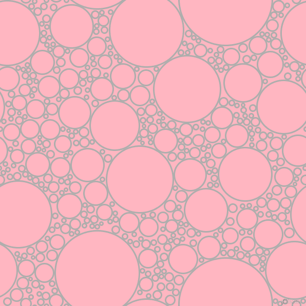 bubbles, circles, sponge, big, medium, small, 3 pixel line width, Bombay and Light Pink circles bubbles sponge soap seamless tileable