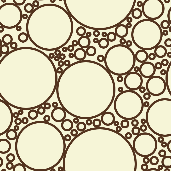 bubbles, circles, sponge, big, medium, small, 9 pixel line width, Brown Bramble and Hint Of Yellow circles bubbles sponge soap seamless tileable