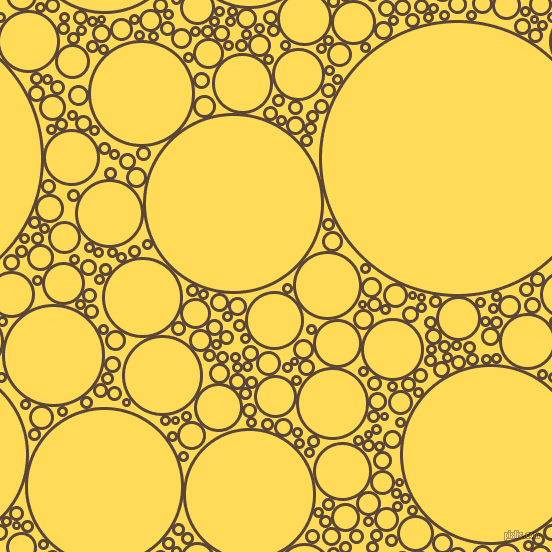 bubbles, circles, sponge, big, medium, small, 3 pixel line width, Brown Derby and Mustard circles bubbles sponge soap seamless tileable