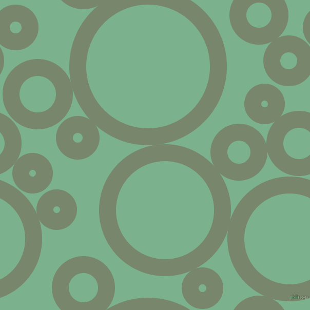 bubbles, circles, sponge, big, medium, small, 33 pixel line width, Camouflage Green and Bay Leaf circles bubbles sponge soap seamless tileable