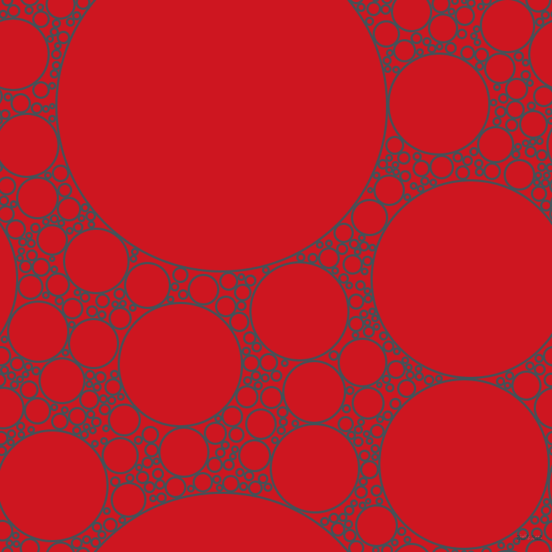 bubbles, circles, sponge, big, medium, small, 3 pixel line width, Casal and Fire Engine Red circles bubbles sponge soap seamless tileable