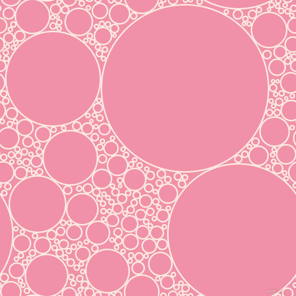 bubbles, circles, sponge, big, medium, small, 3 pixel line width, Chablis and Mauvelous circles bubbles sponge soap seamless tileable