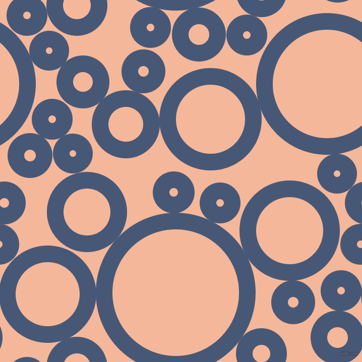 bubbles, circles, sponge, big, medium, small, 33 pixel line width, Chambray and Mandys Pink circles bubbles sponge soap seamless tileable