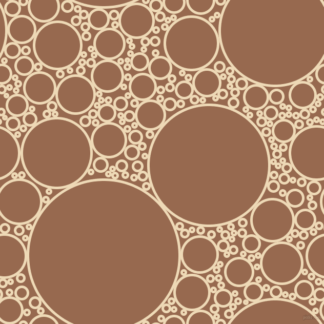 bubbles, circles, sponge, big, medium, small, 5 pixel line width, Champagne and Dark Tan circles bubbles sponge soap seamless tileable