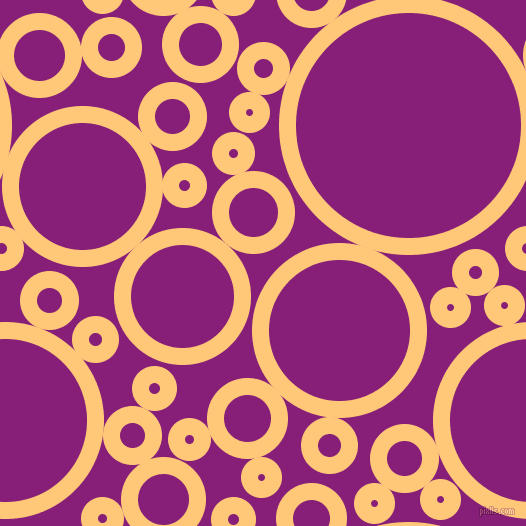 bubbles, circles, sponge, big, medium, small, 17 pixel line width, Chardonnay and Dark Purple circles bubbles sponge soap seamless tileable