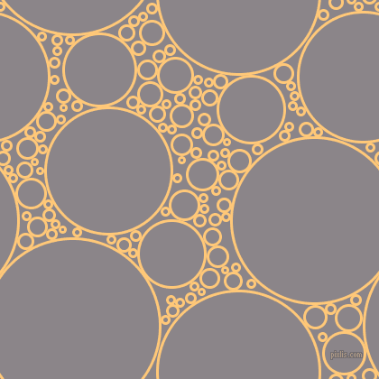 bubbles, circles, sponge, big, medium, small, 3 pixel line width, Chardonnay and Taupe Grey circles bubbles sponge soap seamless tileable