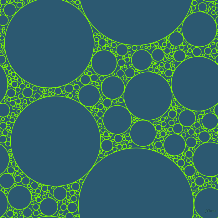 bubbles, circles, sponge, big, medium, small, 2 pixel line width, Chartreuse and Chathams Blue circles bubbles sponge soap seamless tileable