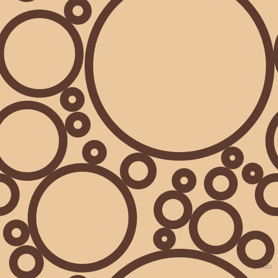 bubbles, circles, sponge, big, medium, small, 17 pixel line width, Cioccolato and New Tan circles bubbles sponge soap seamless tileable