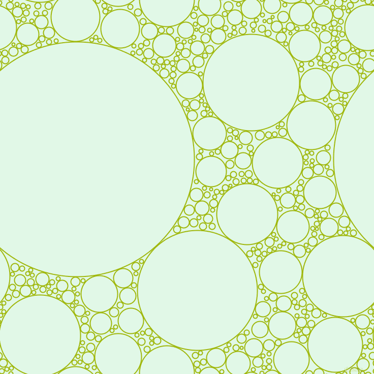 bubbles, circles, sponge, big, medium, small, 2 pixel line width, Citrus and Cosmic Latte circles bubbles sponge soap seamless tileable