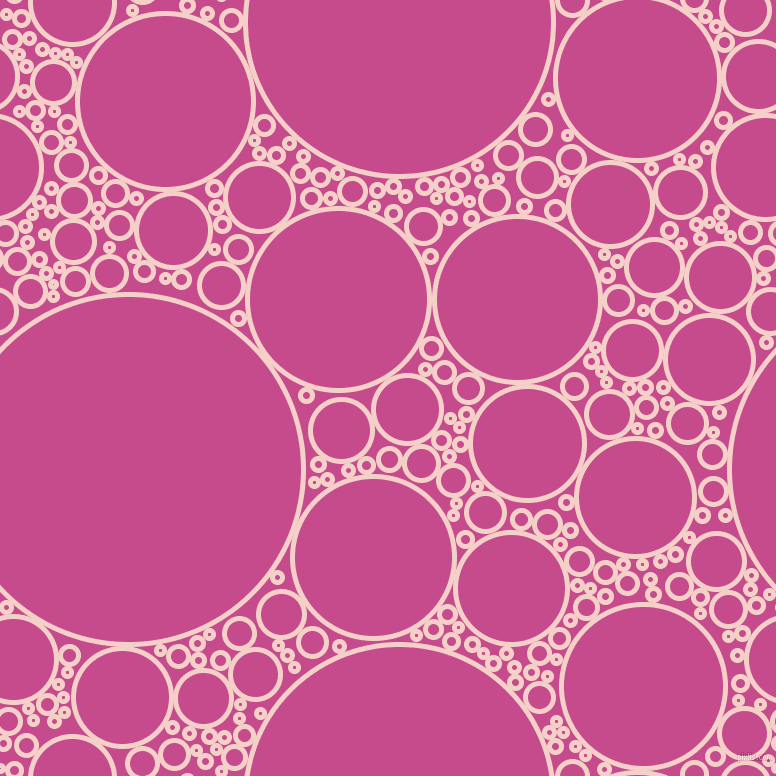 bubbles, circles, sponge, big, medium, small, 5 pixel line width, Coral Candy and Mulberry circles bubbles sponge soap seamless tileable