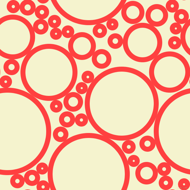 bubbles, circles, sponge, big, medium, small, 17 pixel line width, Coral Red and Moon Glow circles bubbles sponge soap seamless tileable