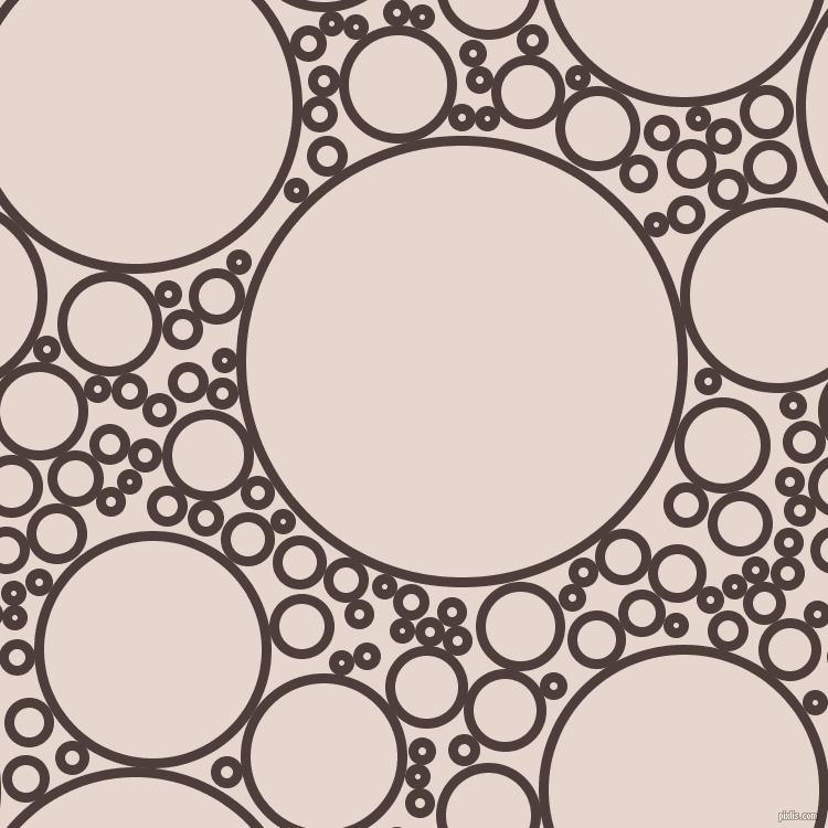 bubbles, circles, sponge, big, medium, small, 9 pixel line width, Crater Brown and Dawn Pink circles bubbles sponge soap seamless tileable