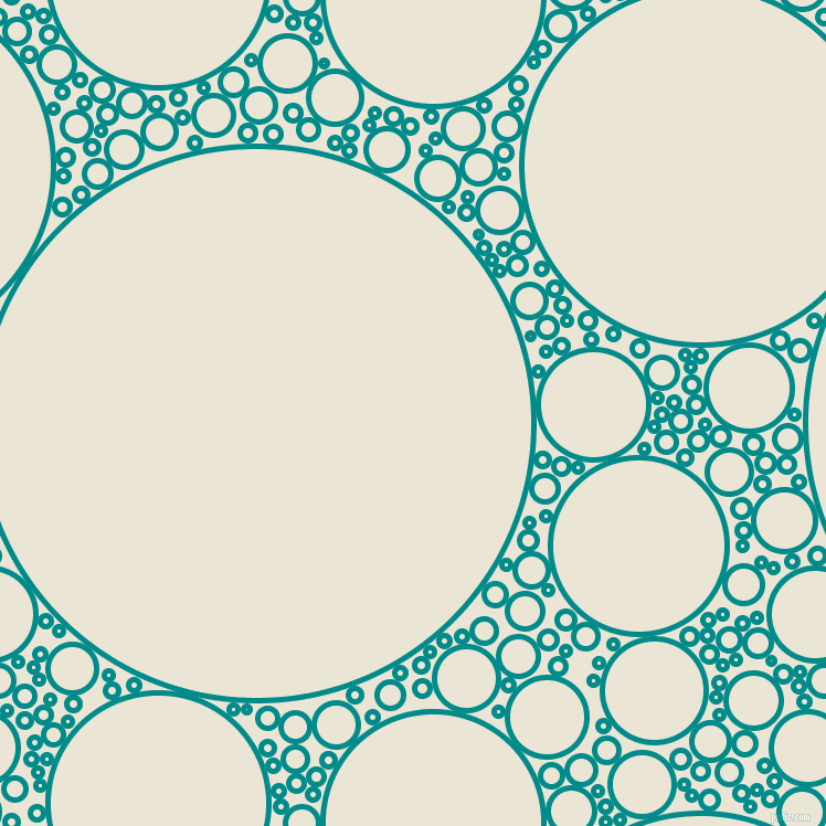 bubbles, circles, sponge, big, medium, small, 5 pixel line width, Dark Cyan and Cararra circles bubbles sponge soap seamless tileable
