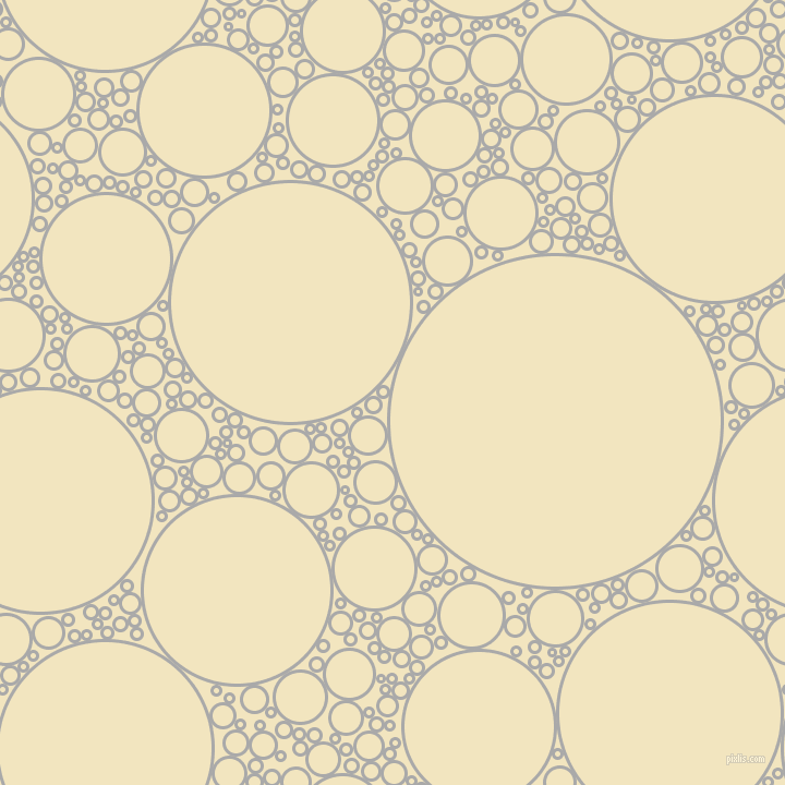 bubbles, circles, sponge, big, medium, small, 3 pixel line width, Dark Gray and Half Colonial White circles bubbles sponge soap seamless tileable