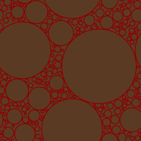 bubbles, circles, sponge, big, medium, small, 3 pixel line width, Dark Red and Carnaby Tan circles bubbles sponge soap seamless tileable