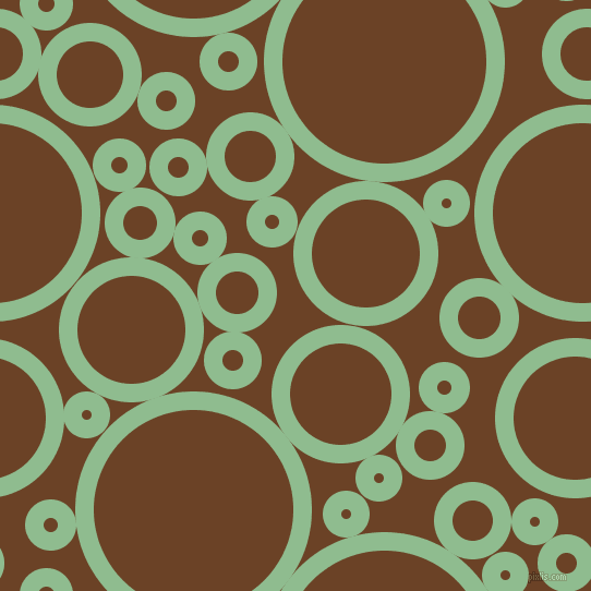 bubbles, circles, sponge, big, medium, small, 17 pixel line width, Dark Sea Green and Semi-Sweet Chocolate circles bubbles sponge soap seamless tileable