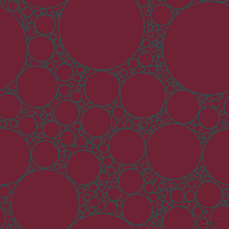 bubbles, circles, sponge, big, medium, small, 2 pixel line width, Dark Slate Grey and Claret circles bubbles sponge soap seamless tileable